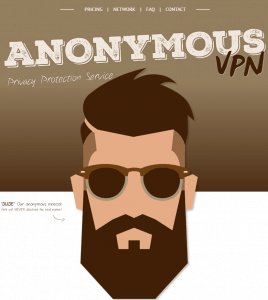 Anonymous VPN home page