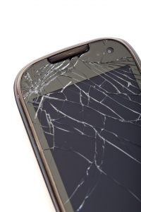example of a cracked smartphone