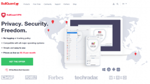 BullGuard VPN website