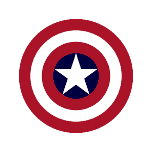 Example of Captain America's shield