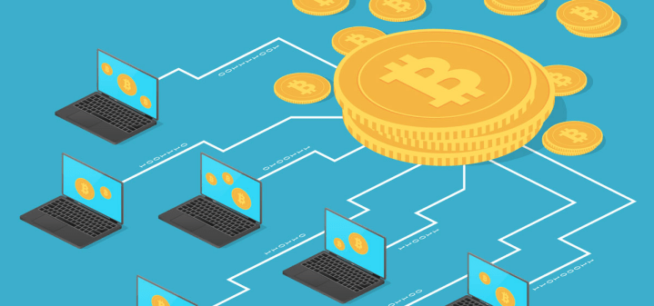 Computers feeding the cryptocurrency mining machine