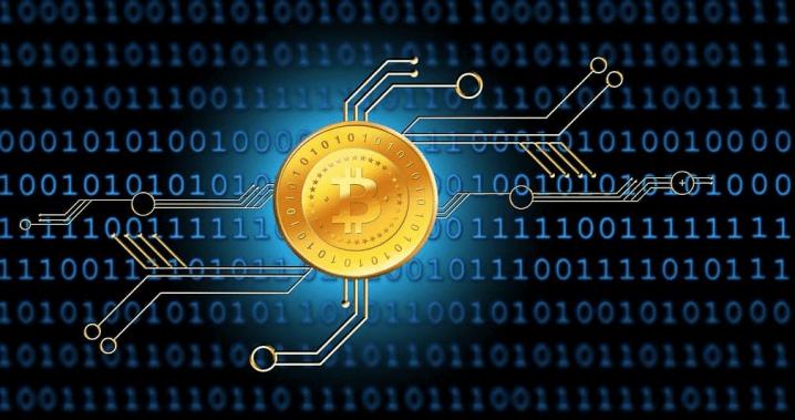 Bitcoin symbol in the web