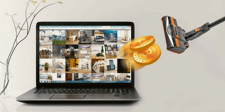 Cryptojacking in action, sucking away money from our computer