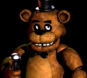 Creepy teddy bear from FNAF