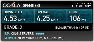 US Speed Test Using OpenVPN