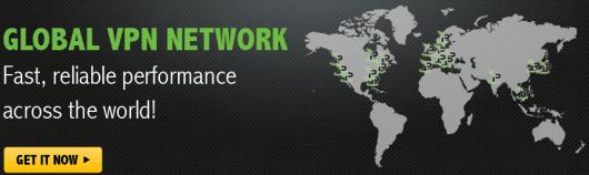 World map with IPVanish server locations