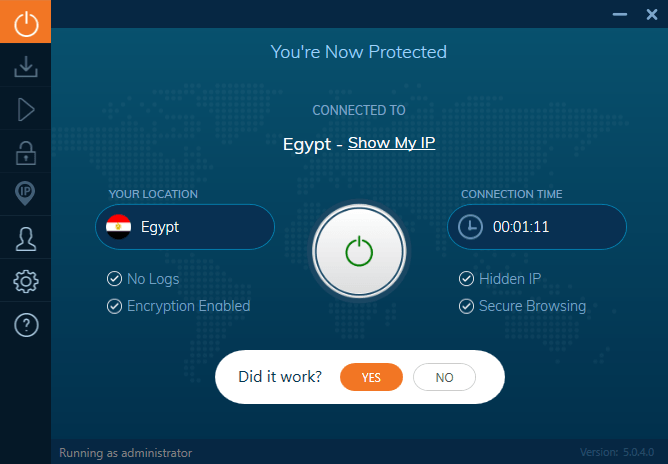 Ivacy VPN Connection