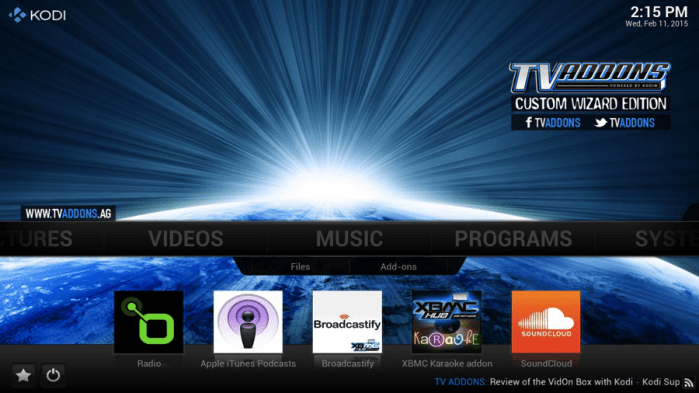 One of the addons of Kodi