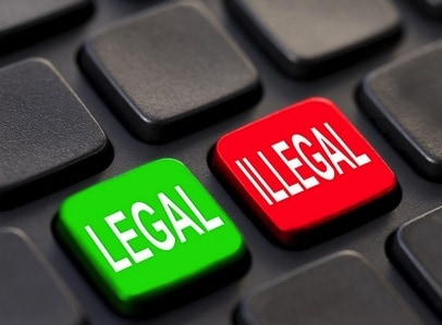 Legal and illegal use of a VPN
