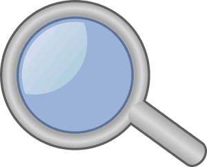 Example of a magnifying glass