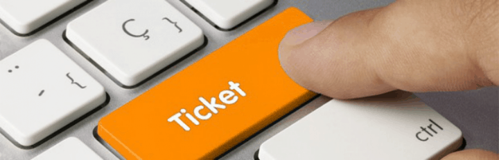 Online ticket purchase with a press of a button