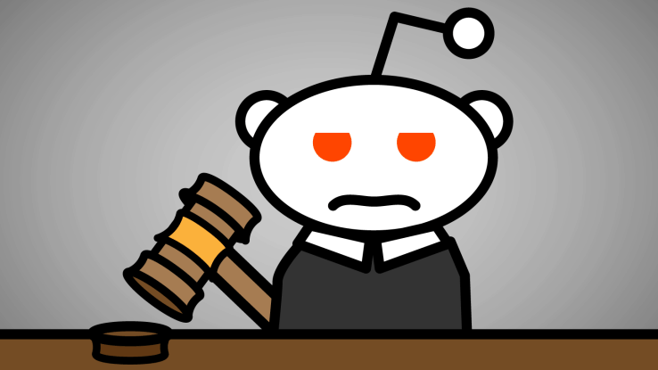 Reddit mascot as a judge