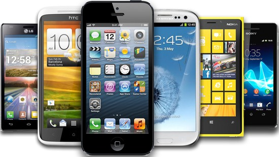 Example of some smartphones