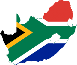 South African on the map