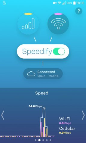 Speedify's Android app