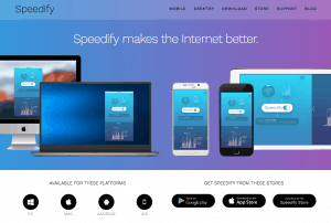 Speedify's website