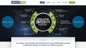 The main page of SwitchVPN