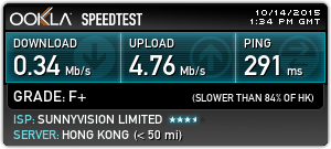 SwitchVPN's speedtest result for Singapore