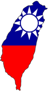 Country map of Taiwan