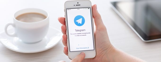 Telegram on phone