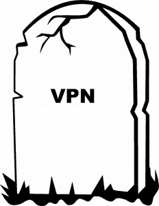VPN tombstone