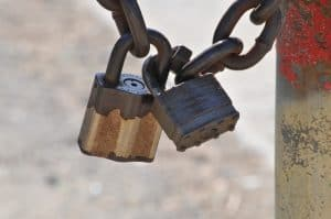 Example of two padlocks