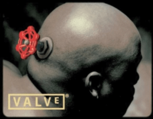The iconic logo of Valve, the company behind Steam