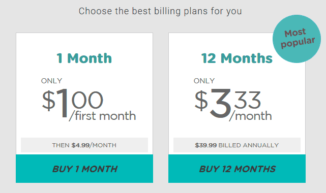 Prices are quite low for a VPN