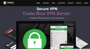The homepage of VPNSecure