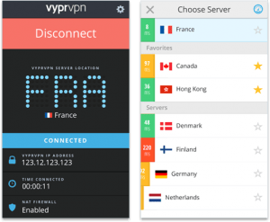 VyprVPN Android app connecting to a server