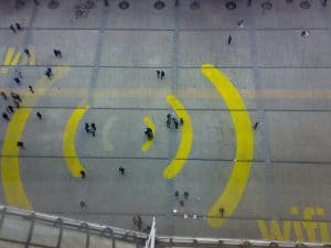 Example of a giant wi-fi sign
